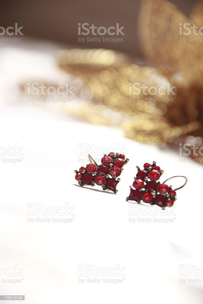 Heart shape Earrings royalty-free stock photo