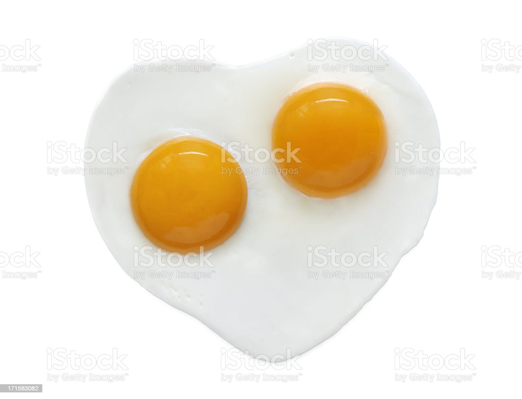 Heart Shape Egg stock photo