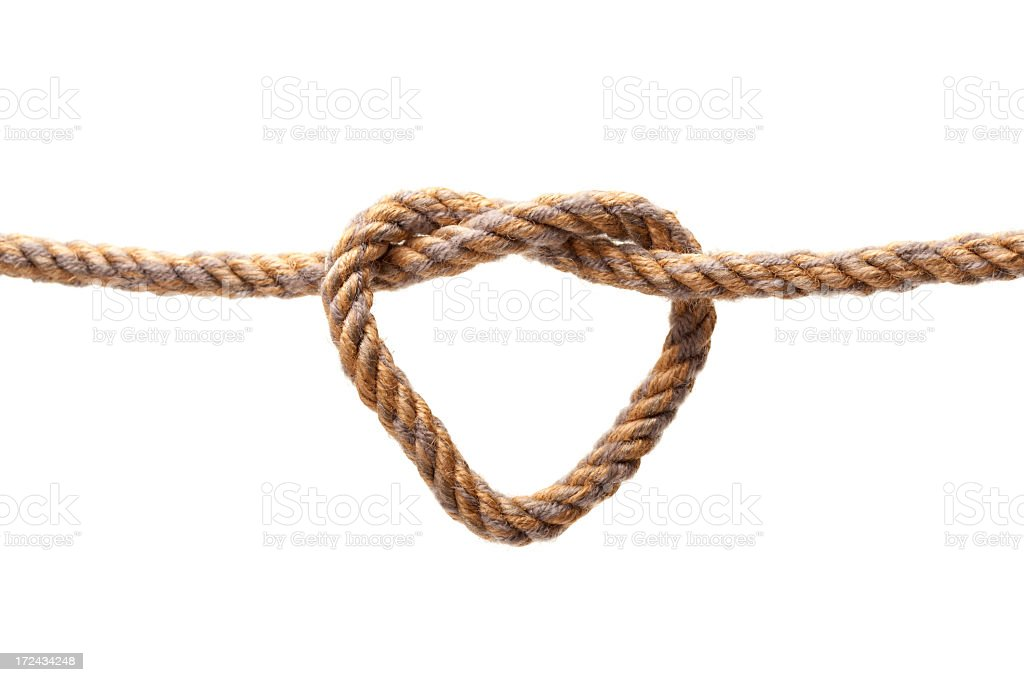 Heart shape from rope royalty-free stock photo