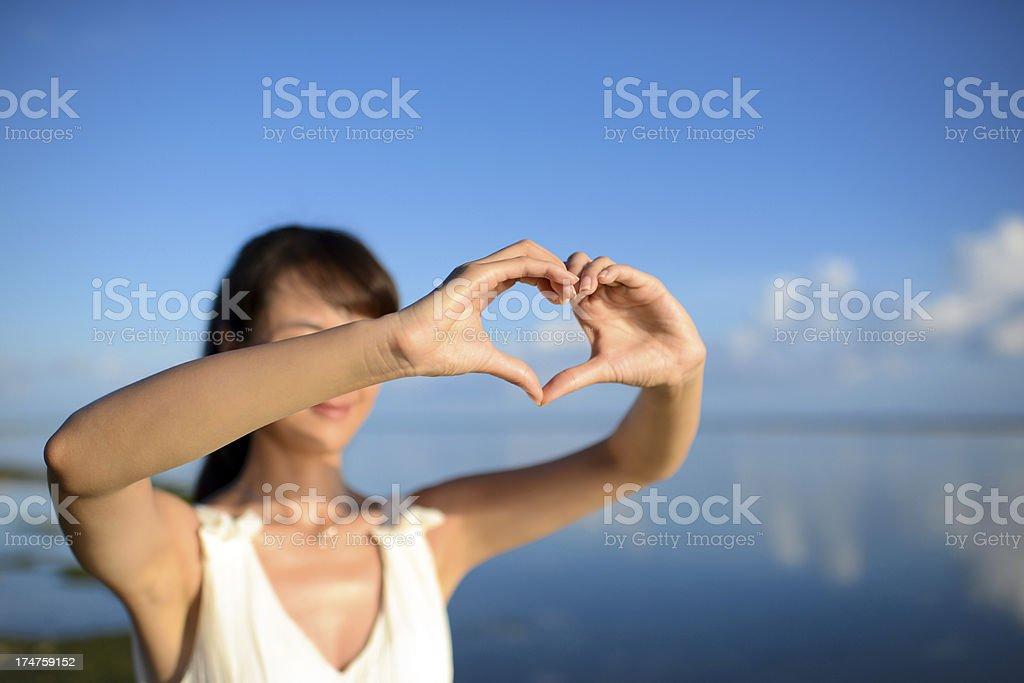 Heart Shape Hand Sign royalty-free stock photo