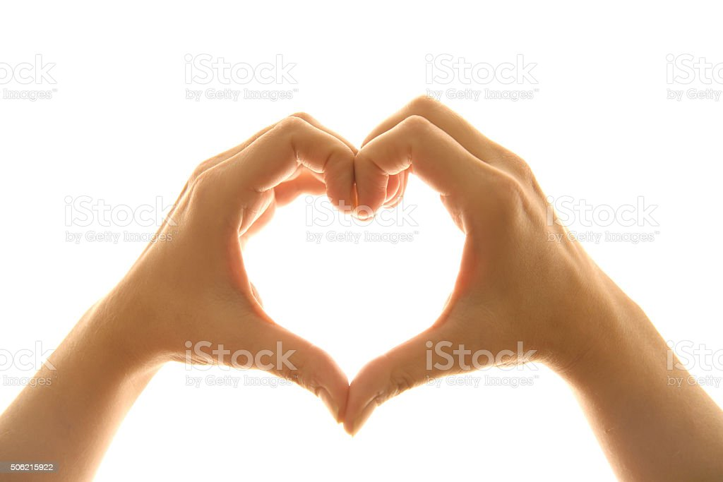 Heart Shape Hand Sign stock photo