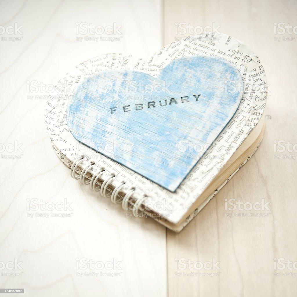 Heart Shape Handmade Book royalty-free stock photo