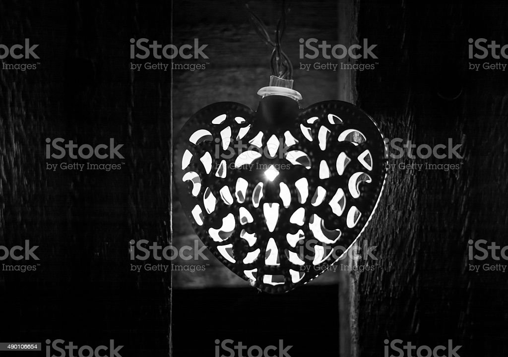 Heart Shape Light, Christmas and Winter stock photo