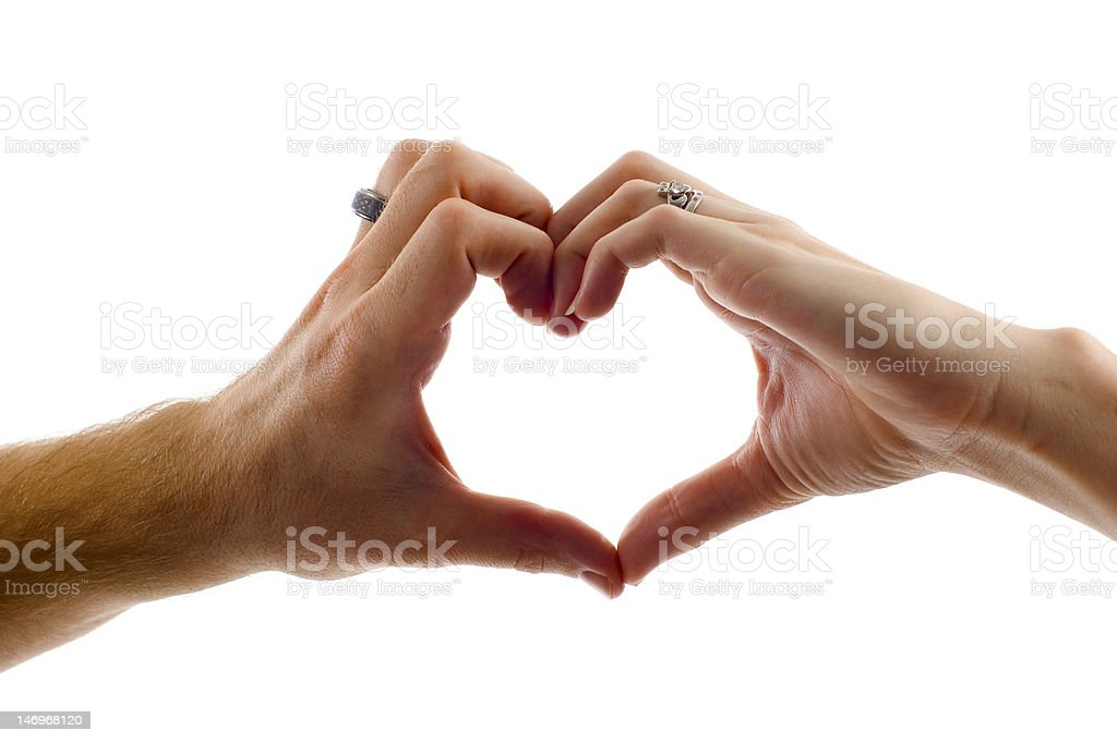 Heart Shape Made by Hands stock photo