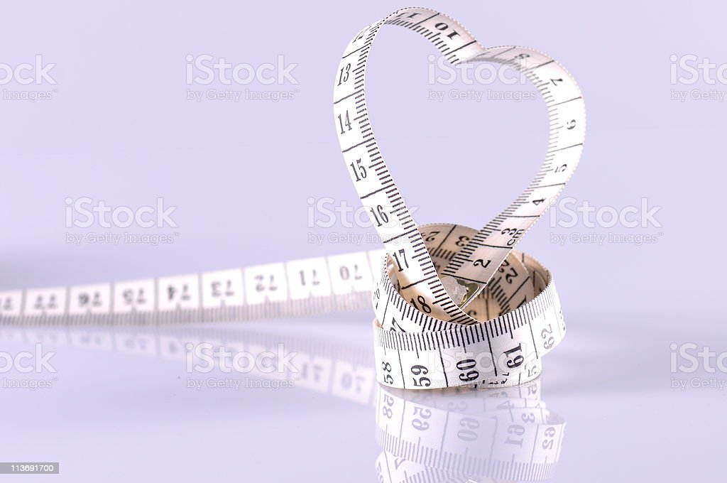 heart shape made by tapeline stock photo