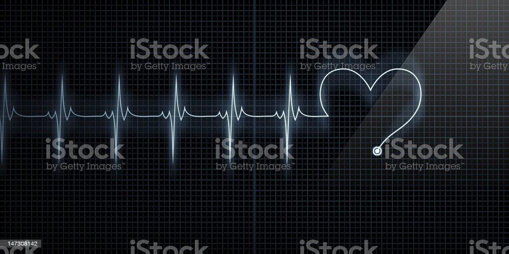 Heart Shape Monitor stock photo