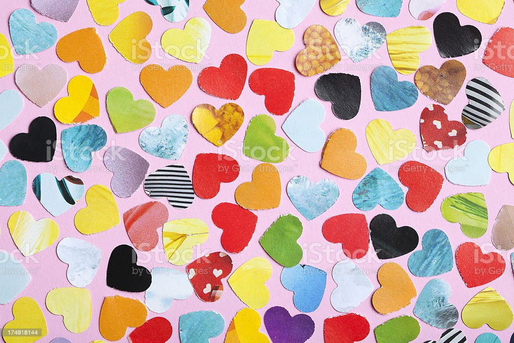 heart shape mosaic background royalty-free stock photo