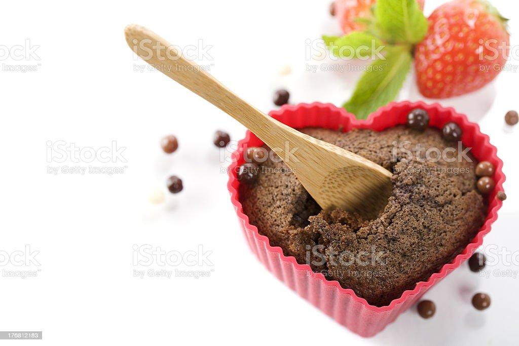 heart shape muffins royalty-free stock photo