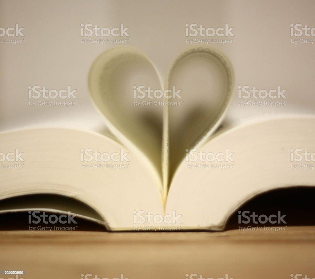 heart shape of book stock photo