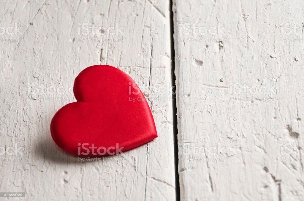 Heart shape on blank wood stock photo