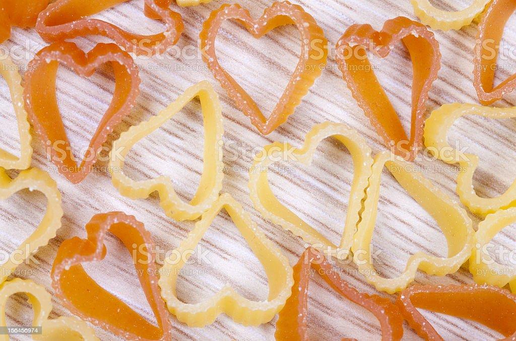 Heart shape Pasta royalty-free stock photo