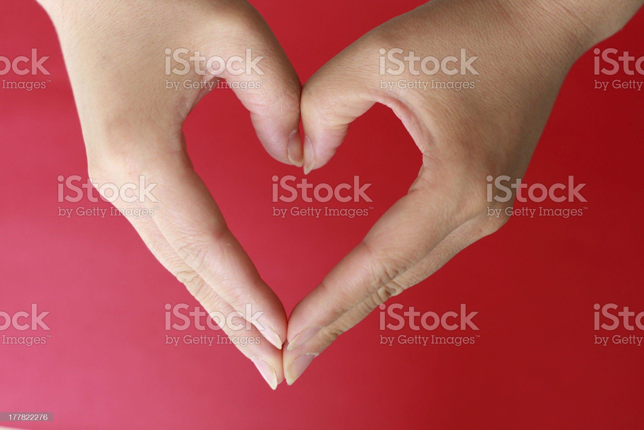 heart shape royalty-free stock photo