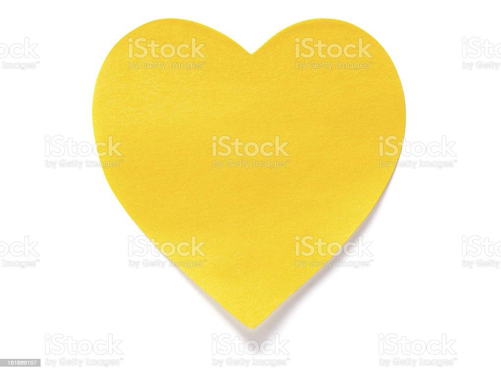 Heart shape Postit Note stock photo