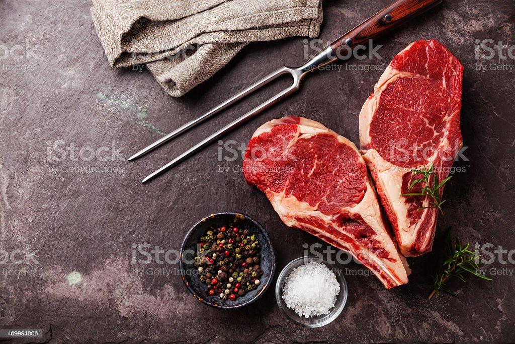 Heart shape Raw meat Steak stock photo