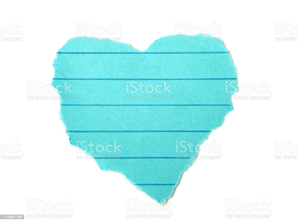 Heart Shape Scrap Paper royalty-free stock photo