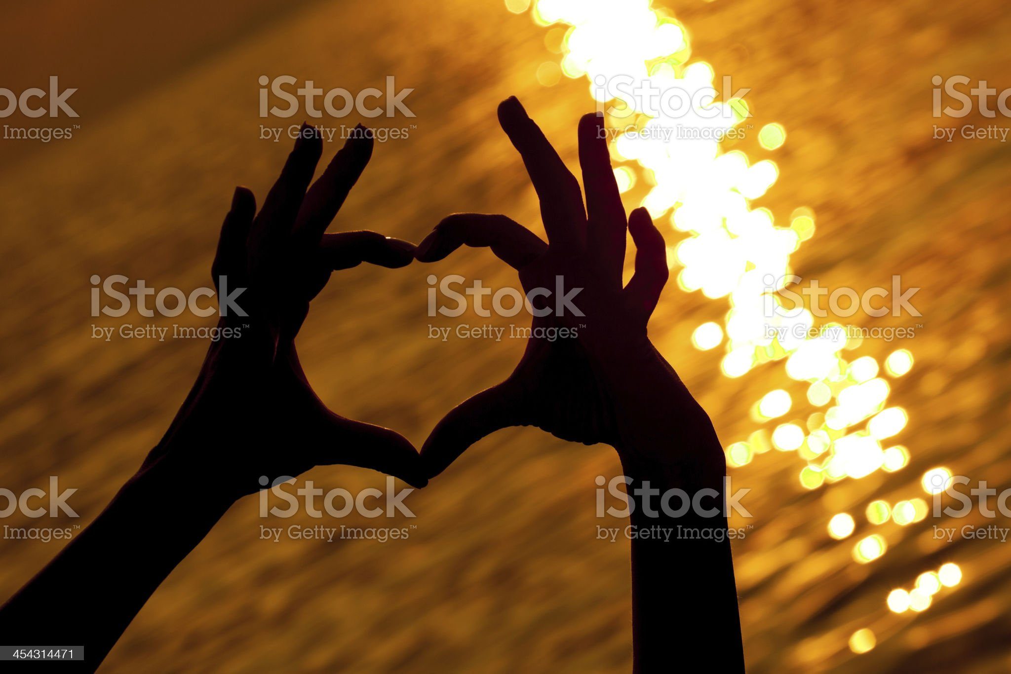 Heart shape silhouette royalty-free stock photo