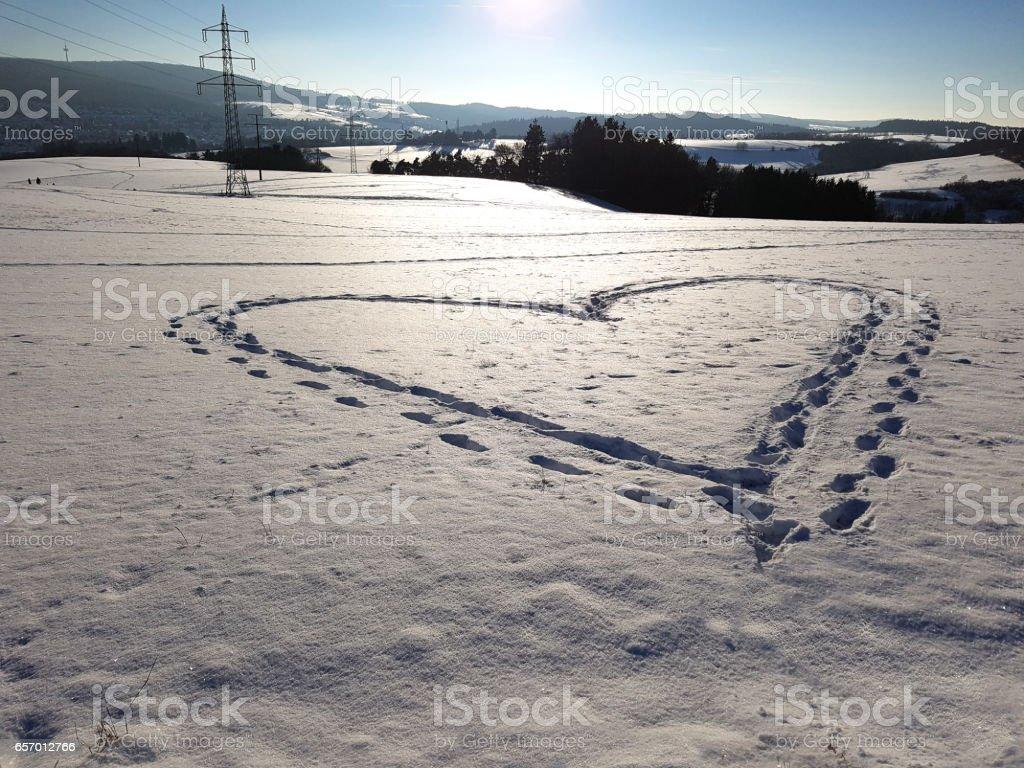 heart shape, winter stock photo