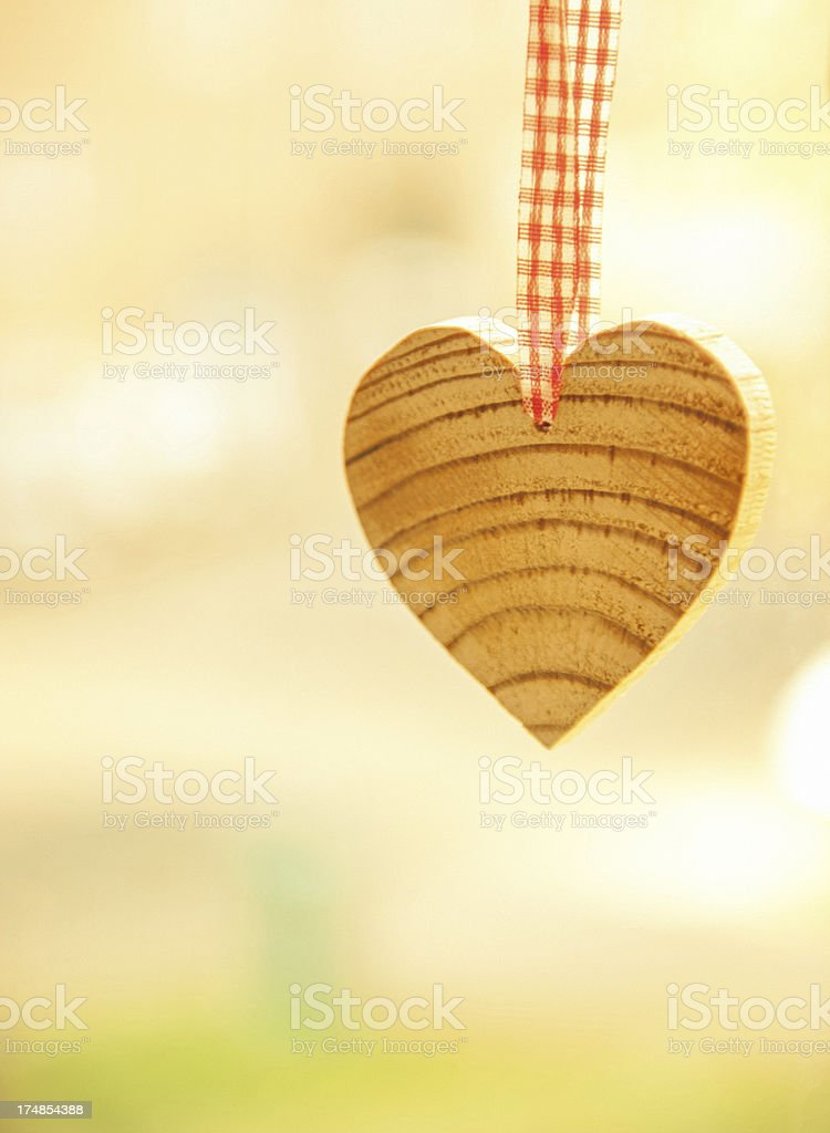 Heart shape wood block royalty-free stock photo