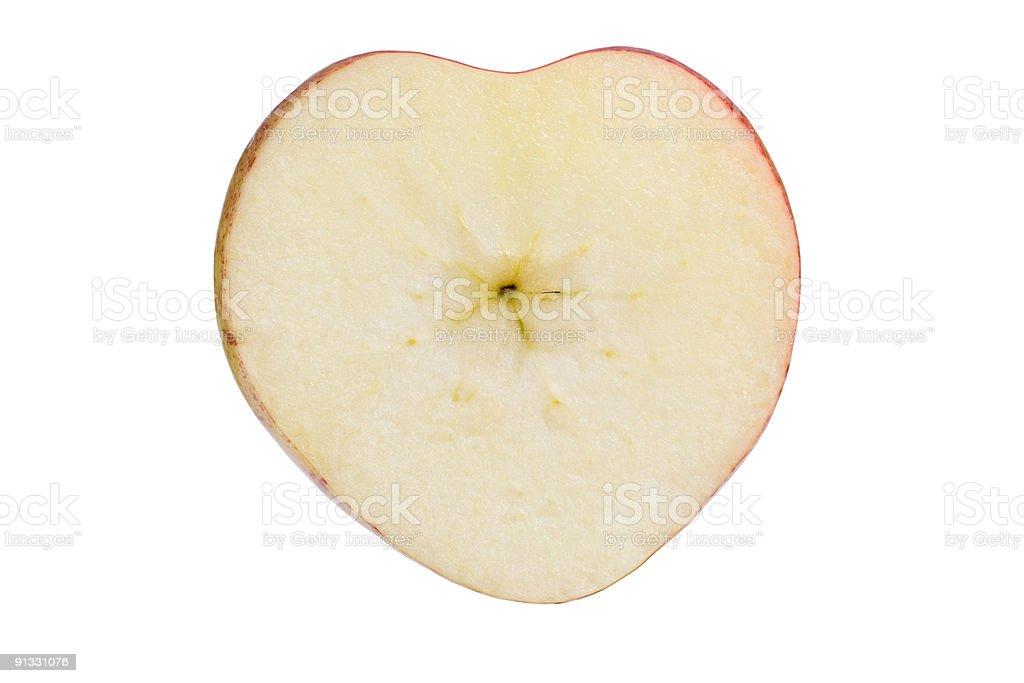 Heart shaped apple royalty-free stock photo