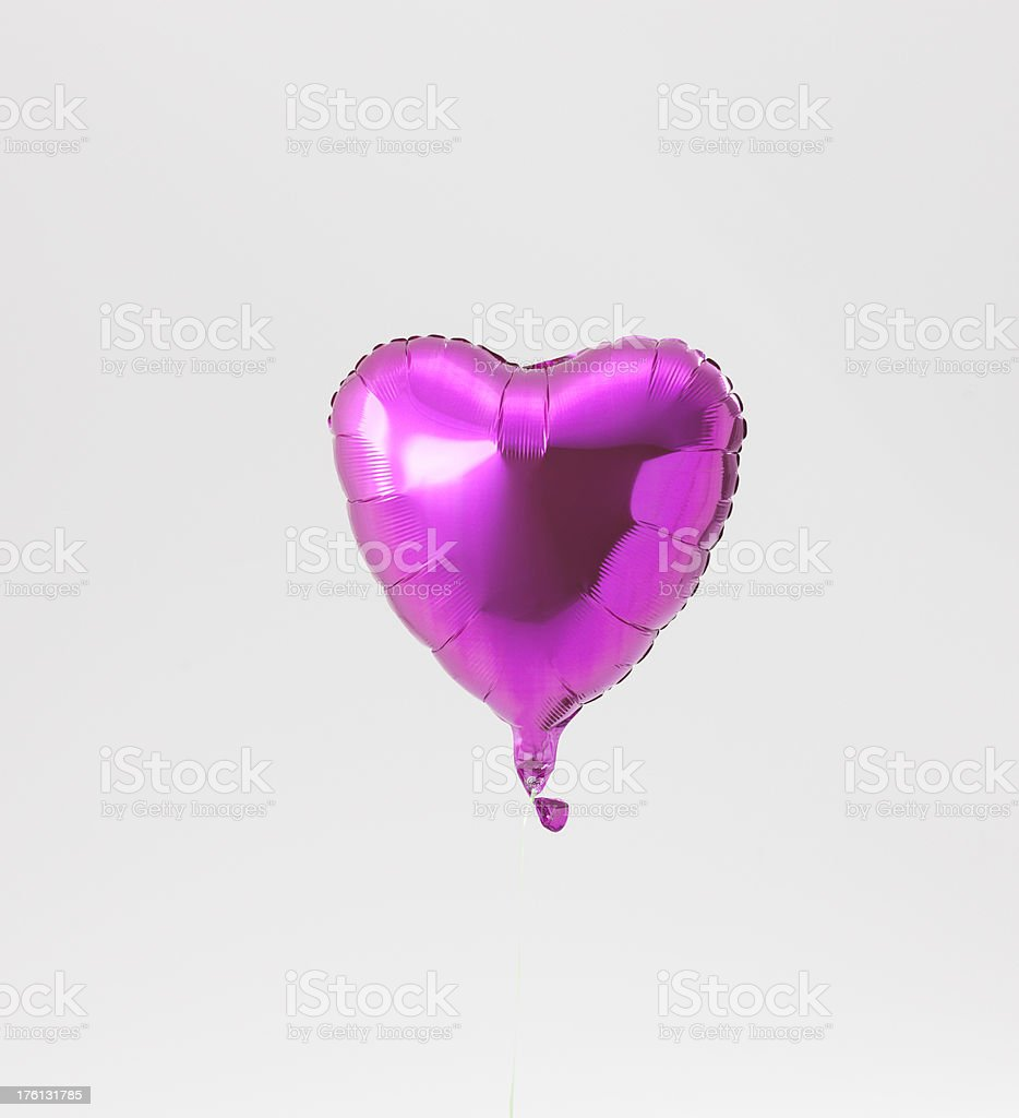 Heart Shaped Balloon on White Background royalty-free stock photo