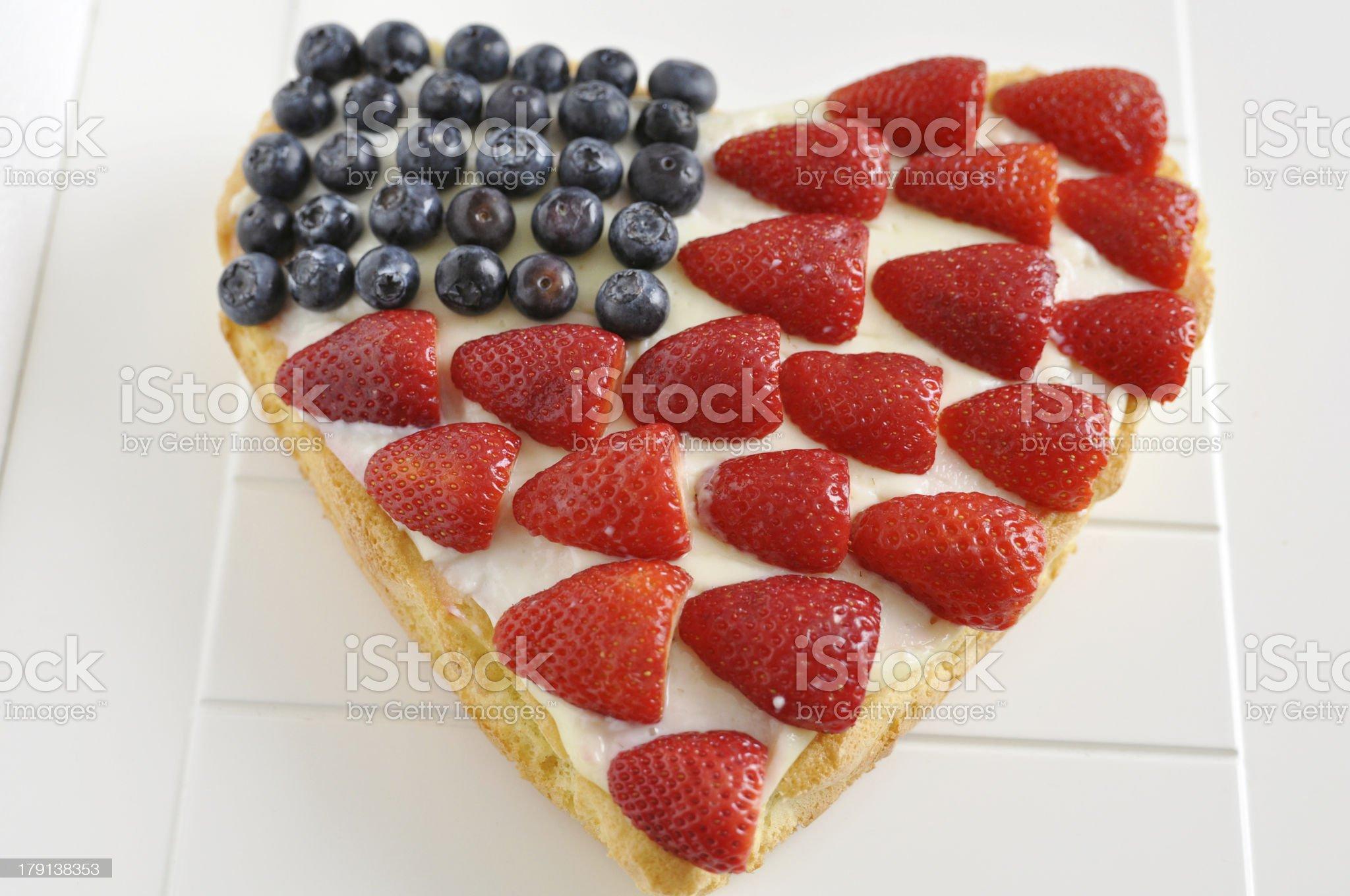 Heart Shaped Berry Cake royalty-free stock photo