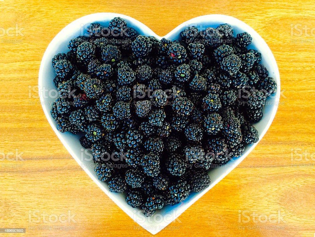 Heart Shaped Bowl of Goodness stock photo