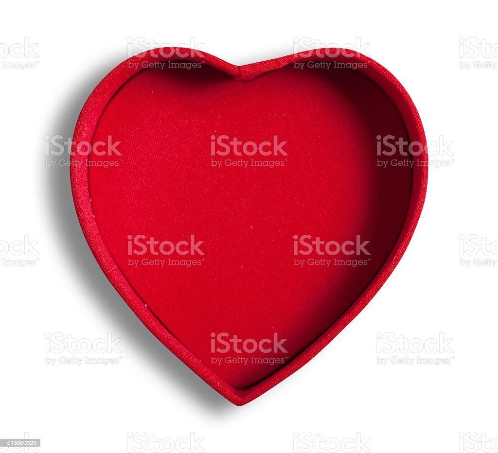 Heart shaped box, isolated, stock photo