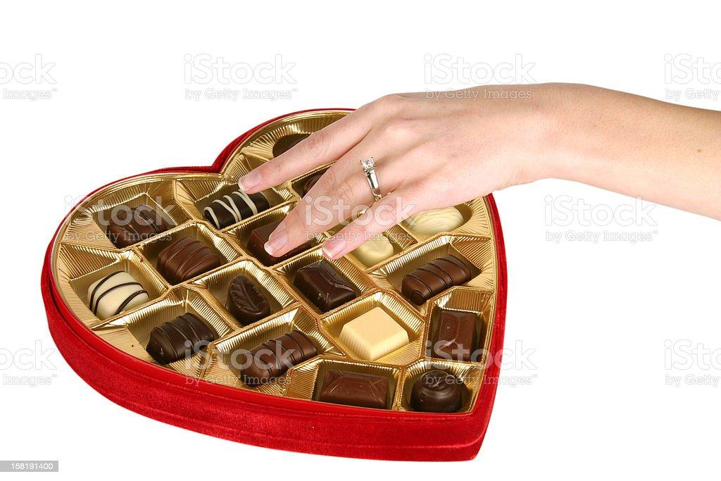 Heart Shaped Box of Chocolate royalty-free stock photo