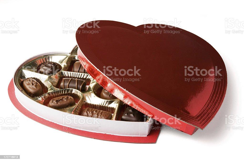 Heart Shaped Box of Chocolates royalty-free stock photo