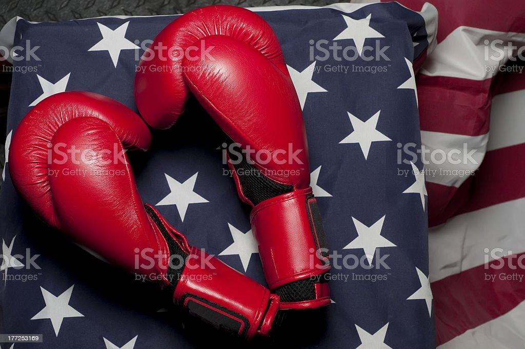 Heart Shaped Boxing Gloves royalty-free stock photo
