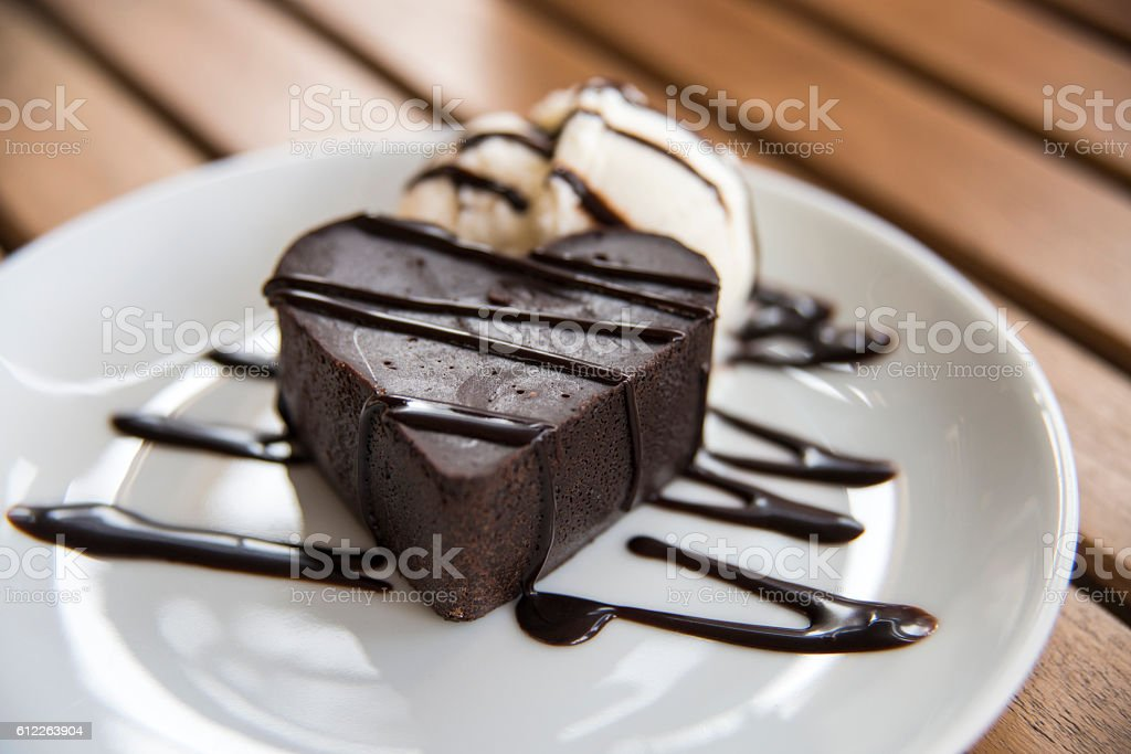 Heart Shaped Brownie stock photo