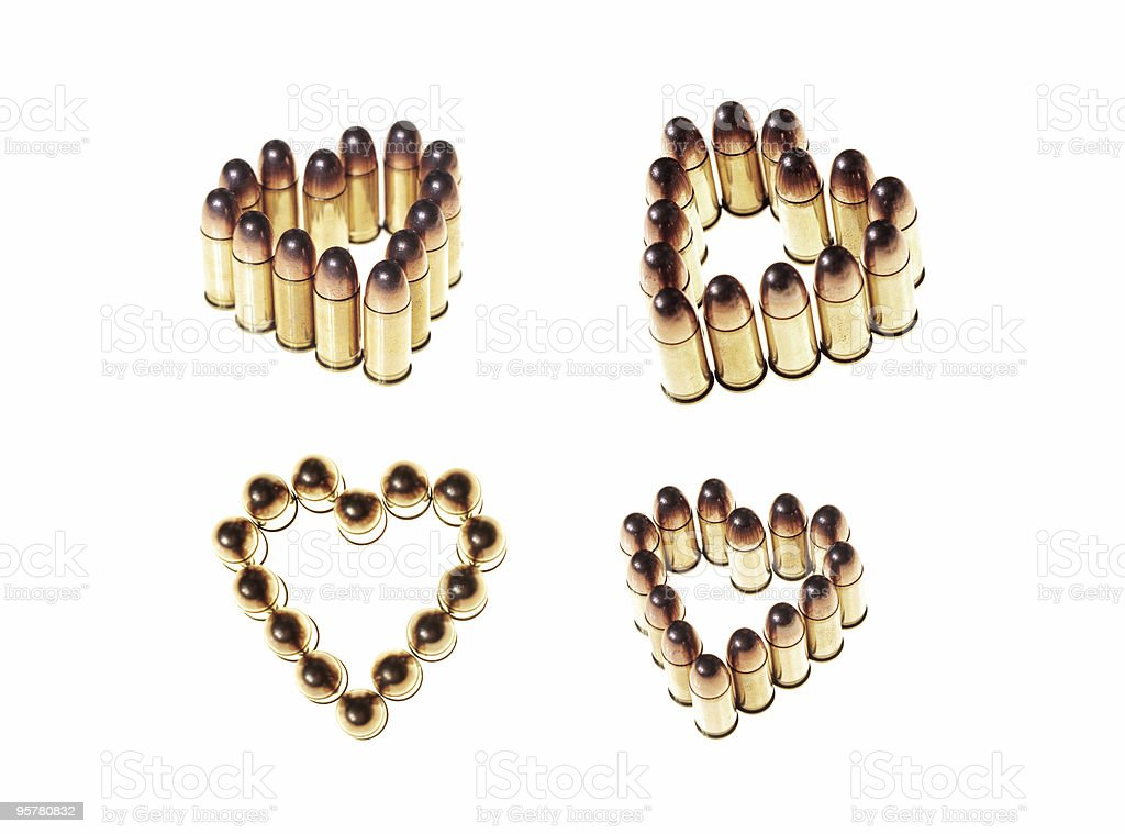 heart shaped bullets royalty-free stock photo