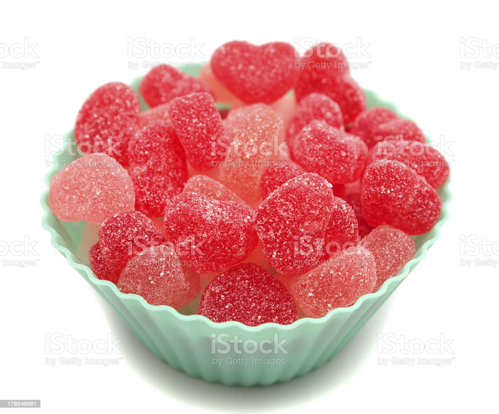 Heart shaped  candies royalty-free stock photo