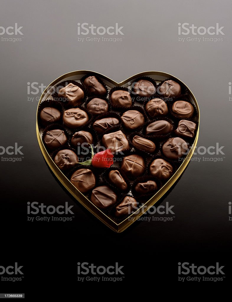 Heart shaped candy box royalty-free stock photo