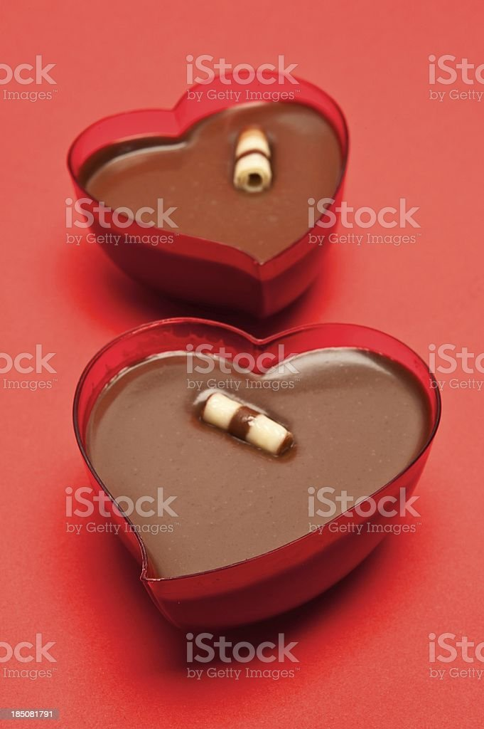 Heart Shaped Chocolate Dessert royalty-free stock photo
