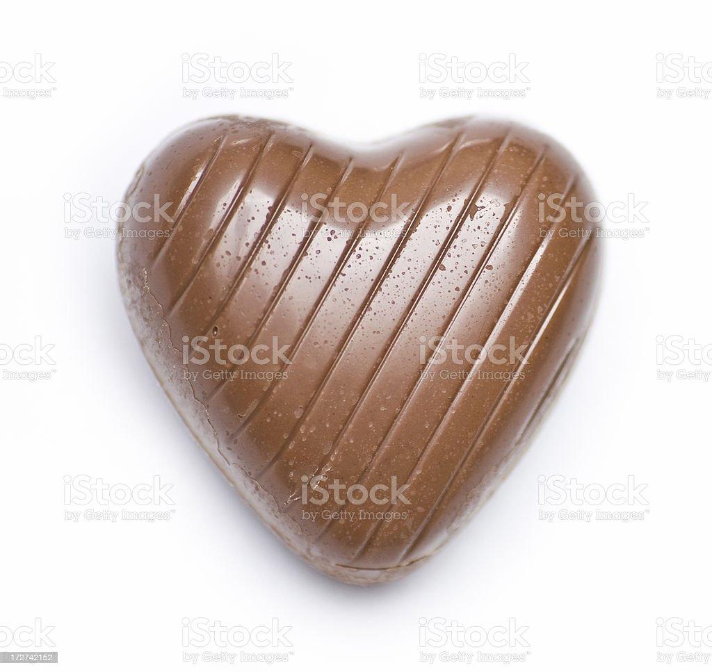 Heart Shaped Chocolate royalty-free stock photo