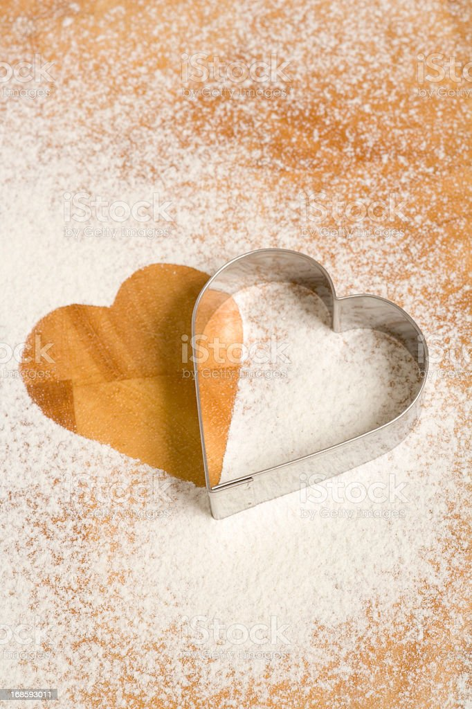 Heart shaped cookie cutters royalty-free stock photo