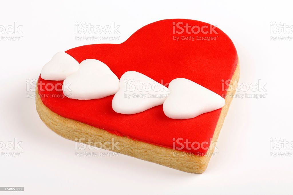 Heart Shaped Cookie royalty-free stock photo
