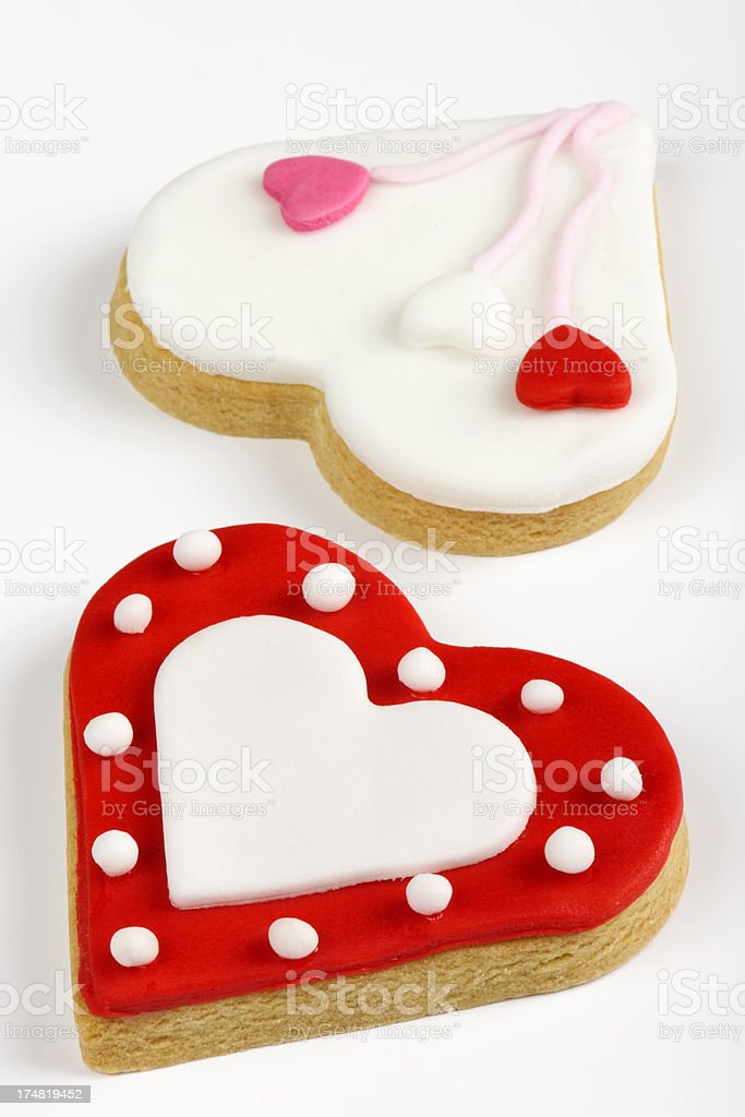 Heart Shaped Cookies royalty-free stock photo