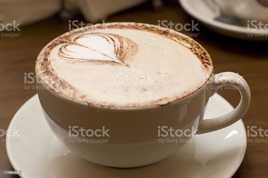 Heart Shaped Cream Cappuccino Drink royalty-free stock photo
