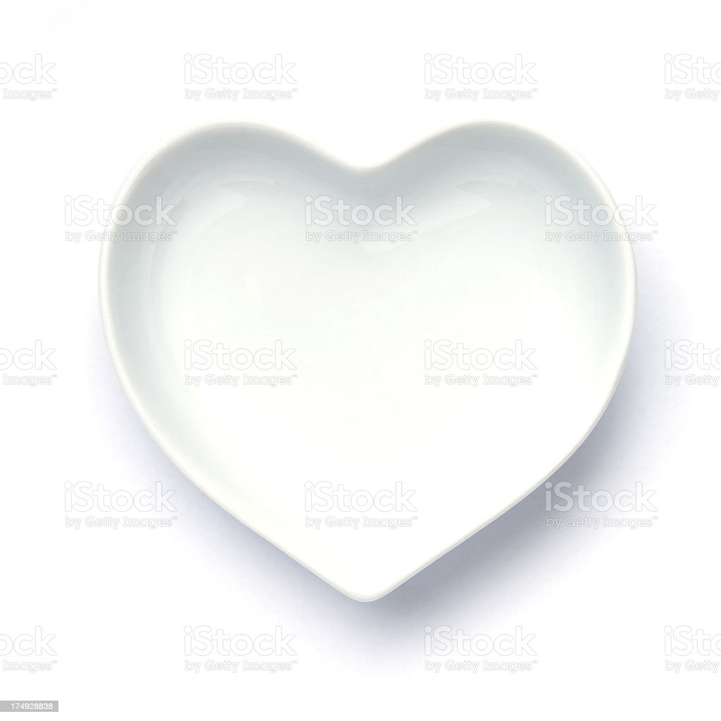 heart shaped dish royalty-free stock photo