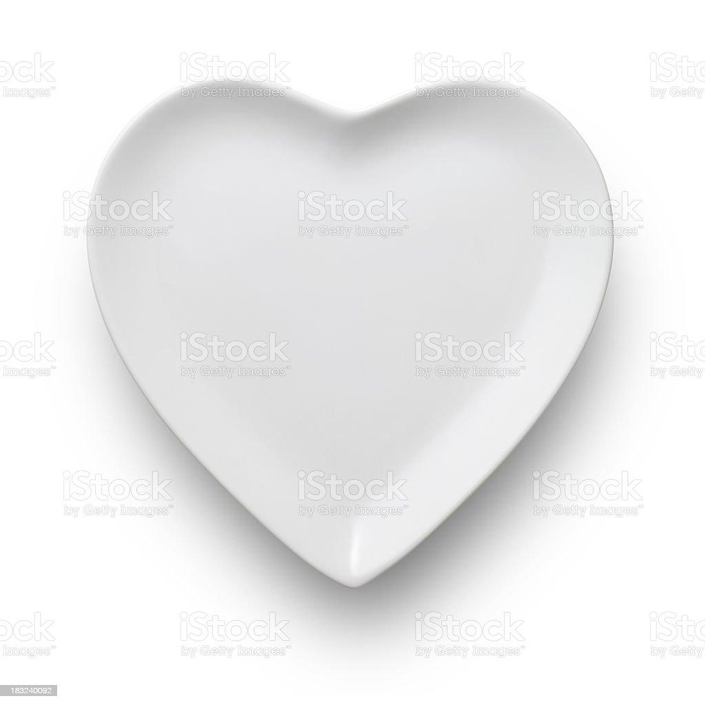 Heart shaped dish stock photo