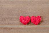 Heart shaped fabric