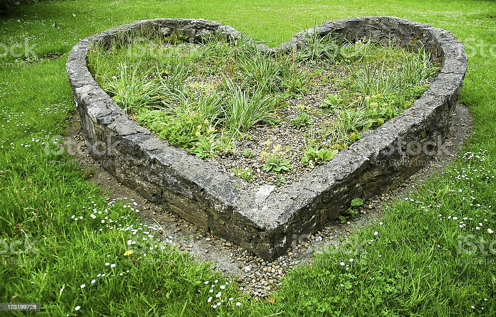 Heart Shaped Flower Bed stock photo