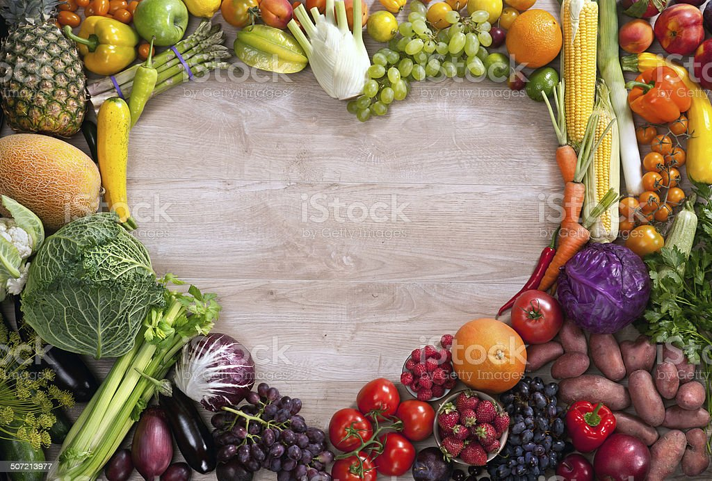 Heart shaped food stock photo