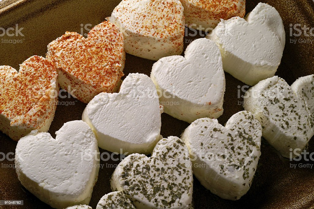Heart shaped fresh cheese (2) royalty-free stock photo