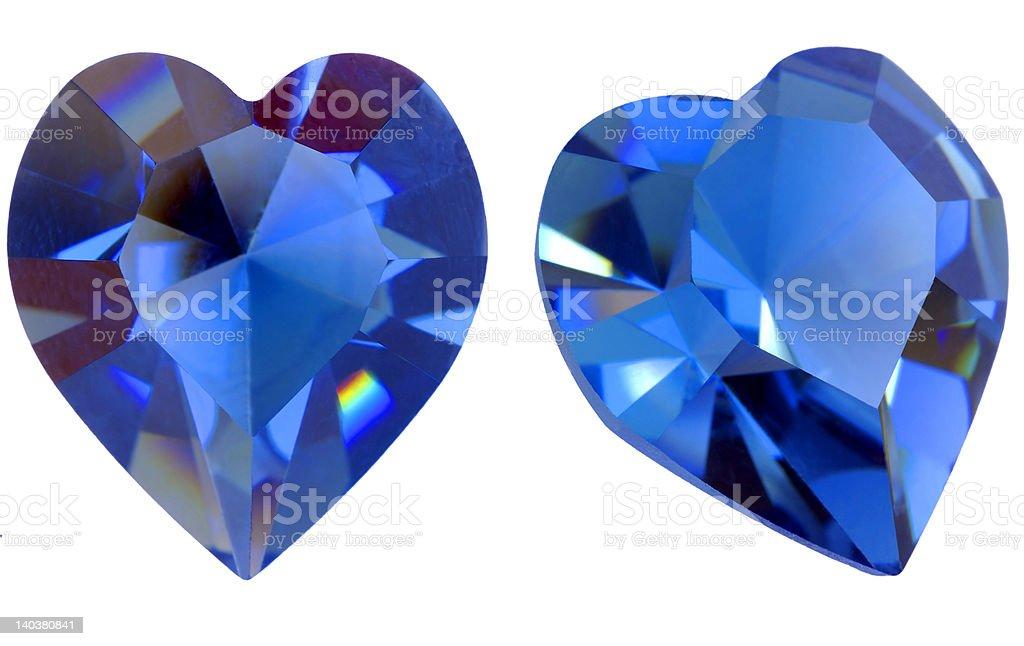 Heart shaped gem stock photo