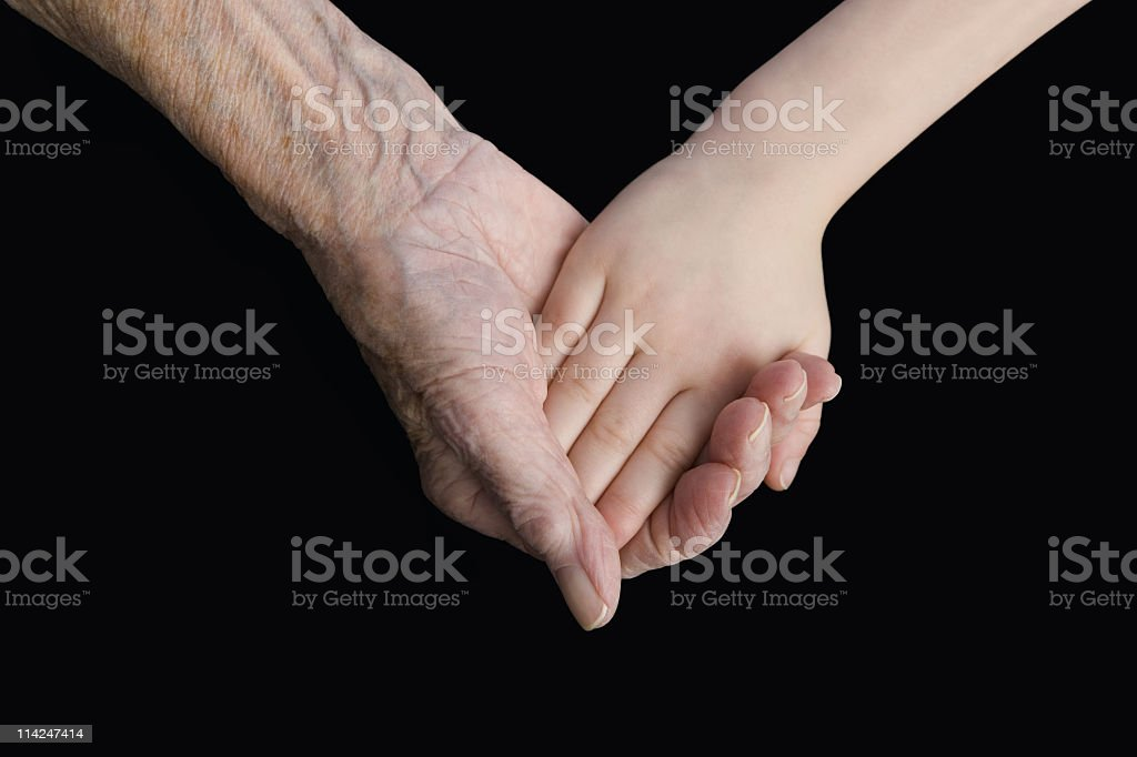 Heart shaped hands royalty-free stock photo