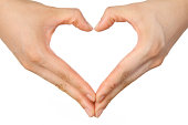 heart shaped hands sign