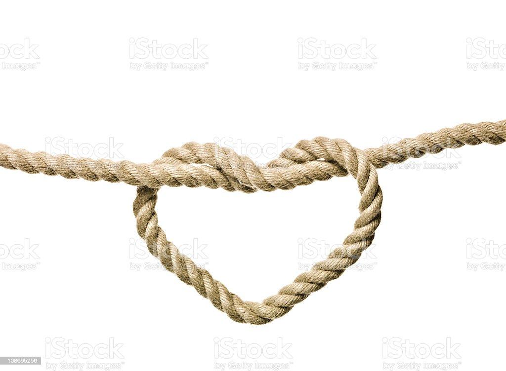 Heart Shaped Knot stock photo